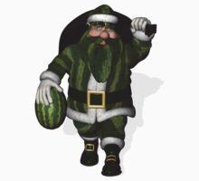 Santa Claus Watermelon Farmer One Piece - Long Sleeve