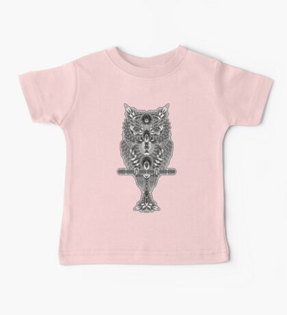 When The Owl Sings - BW Baby Tee
