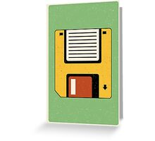 Floppy Disc Greeting Card