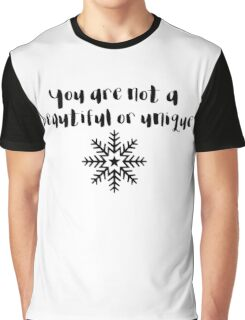 Fight Club - You are not a beautiful or unique snowflake Graphic T-Shirt