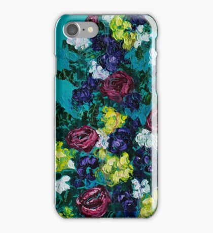 Teal Roses iPhone Case/Skin