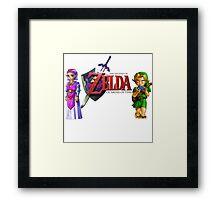 Child Link and Zelda - Ocarina of Time Framed Print