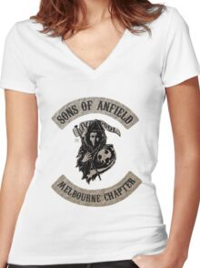 Sons of Anfield - Melbourne Chapter Women's Fitted V-Neck T-Shirt