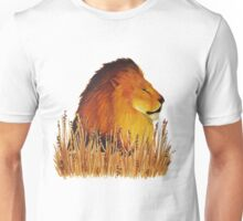 Lion in the grass Unisex T-Shirt