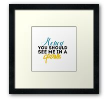 Moriarty Quotes Framed Print