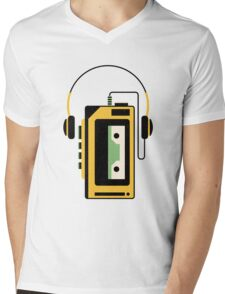 Walkman Mens V-Neck T-Shirt