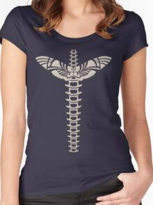 Winged spine Women's Fitted Scoop T-Shirt