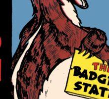 Wisconsin Badger Vintage Travel Decal Sticker