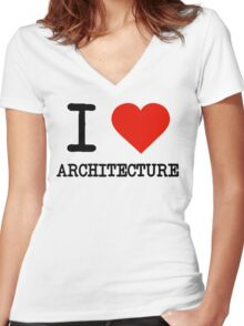 I Love Architecture Women's Fitted V-Neck T-Shirt