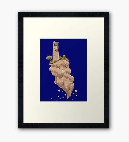 Floating Tower Island Begin Again Framed Print
