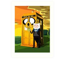 Cartoon Character of Police Public Call Box Art Print