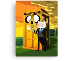 Cartoon Character of Police Public Call Box Canvas Print
