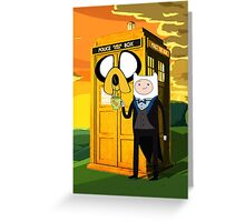 Cartoon Character of Police Public Call Box Greeting Card