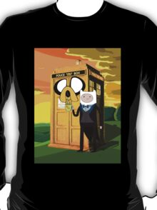 Cartoon Character of Police Public Call Box T-Shirt
