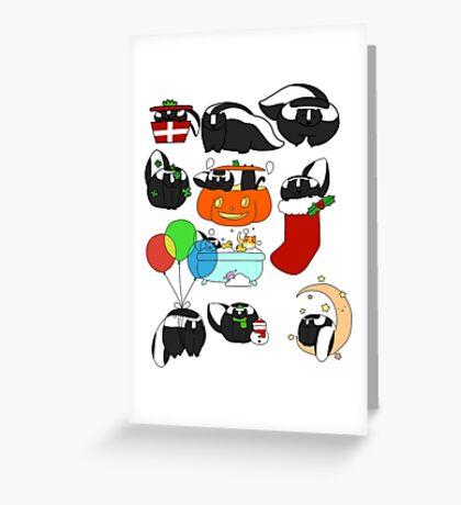 Skunks! Greeting Card