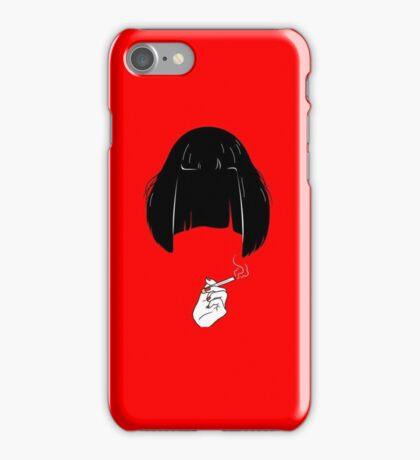 Mia - Pulp Fiction art iPhone Case/Skin