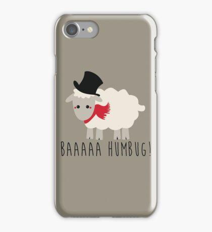 Sheep - Bah Humbug - Scrooge  iPhone Case/Skin