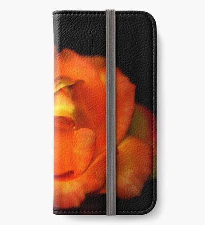 Orange Rose iPhone Wallet/Case/Skin