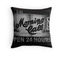 Morning Call Cafe Throw Pillow