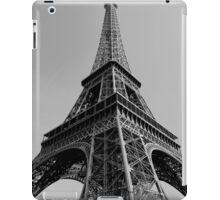 Eiffel Tower - Black and White  iPad Case/Skin