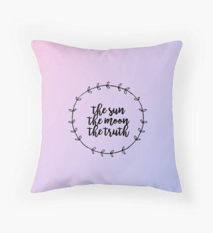 THE SUN, THE MOON, THE TRUTH Throw Pillow