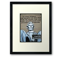 Visit the Lincoln Memorial Framed Print