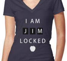 I am JIMLOCKED Women's Fitted V-Neck T-Shirt