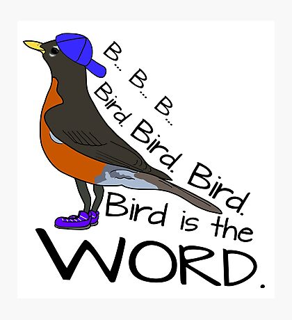 Bird is the Word Photographic Print