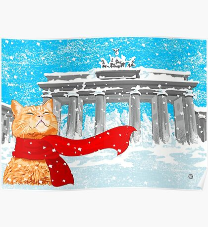 Christmas Cat (Tabby) Poster