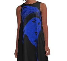 Blue Cap Girl A-Line Dress