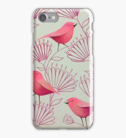Pink birdies iPhone Case/Skin