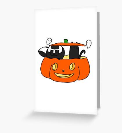 Halloween Skunk Greeting Card