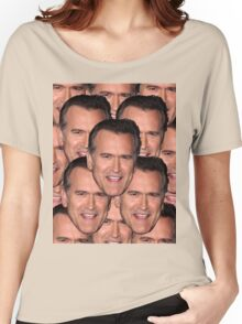Bruce Campbell Evil Dead Head Shot Women's Relaxed Fit T-Shirt