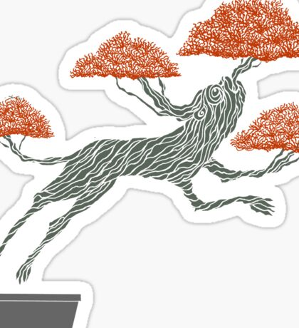 Bonsai Lion Escapes Sticker