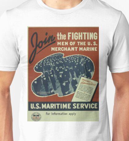 Vintage poster - U.S. Maritime Service Unisex T-Shirt