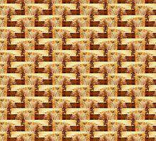ruins of a brick foundation, Ft Stevens 2 pattern by Dawna Morton