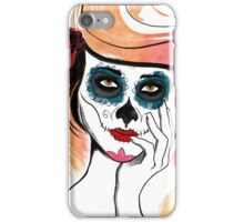 Watercolor Sugar Skull Girl iPhone Case/Skin