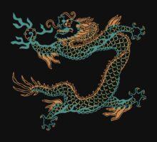 Chinese Dragon (orange/aqua) by Leebling