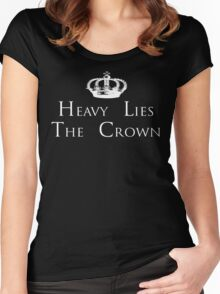 Heavy Lies The Crown Women's Fitted Scoop T-Shirt