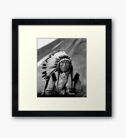 Chief Iron Cloud Framed Print