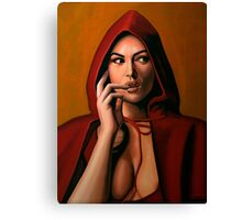 Monica Bellucci Painting Canvas Print