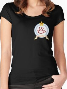 K-ON! - Hōkago Tea Time Name Badge (Yui) Women's Fitted Scoop T-Shirt