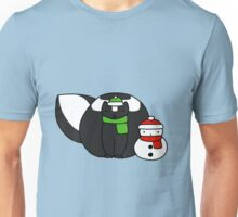 Skunk and Snowman Unisex T-Shirt