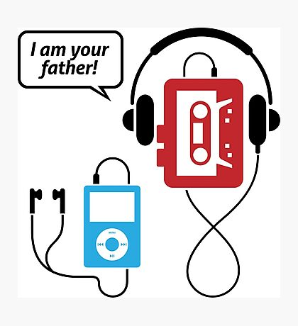 MP3 player, I am your father! Photographic Print