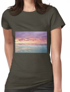 Pastel Sunset Womens Fitted T-Shirt