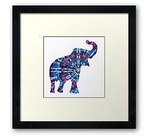 Tie Dye Elephant Framed Print