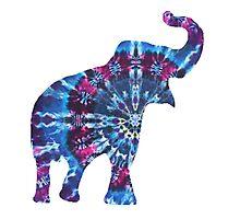 Tie Dye Elephant Photographic Print