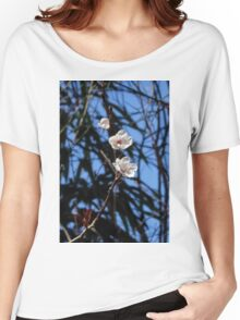 White Cherry Blossoms Women's Relaxed Fit T-Shirt