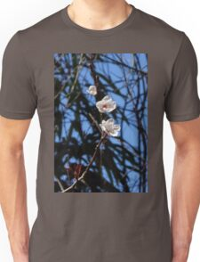 White Cherry Blossoms Unisex T-Shirt
