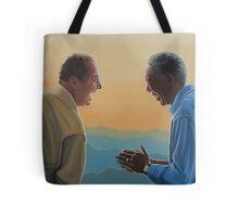 Jack Nicholson and Morgan Freeman in The Bucket List Tote Bag